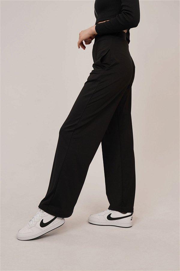 Bel Lastikli Dalgıç Pantolon SIYAH