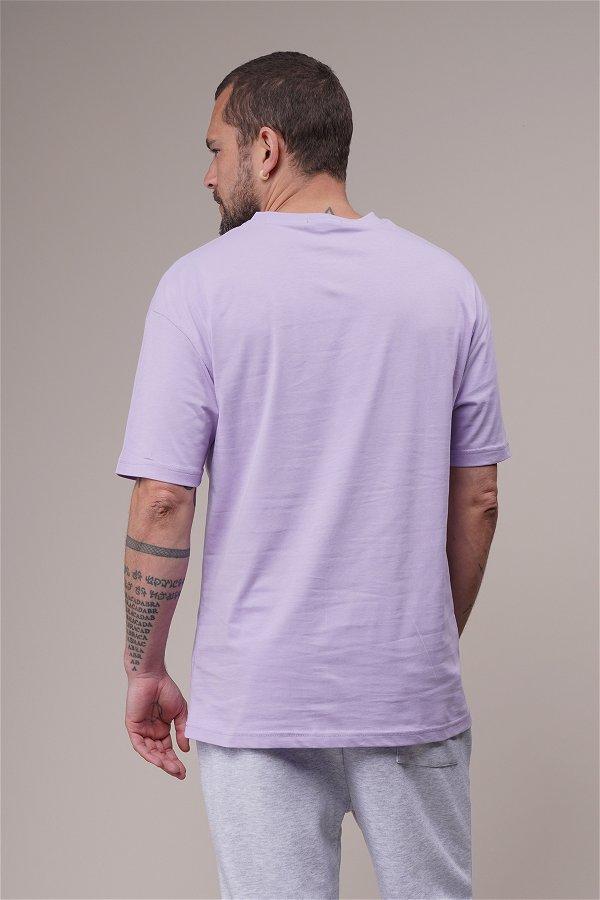 Baltımore Baskılı Oversize T-shirt LILA
