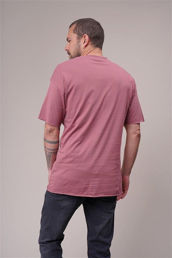 Tek Cepli Oversize T-shirt GÜL