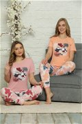 Penguen Baskılı Kısa Kol Pijama Takımı PEMBE