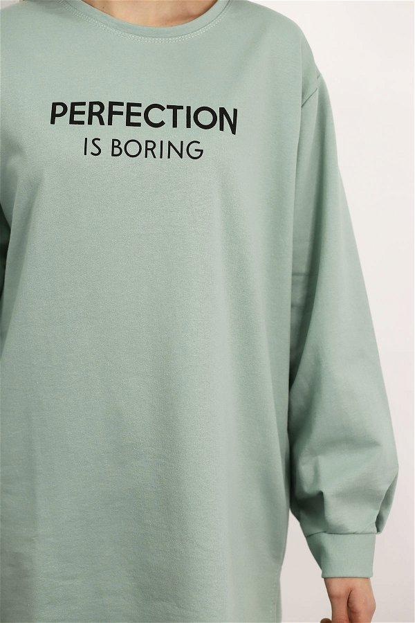Perfection Baskılı Sweat MINT