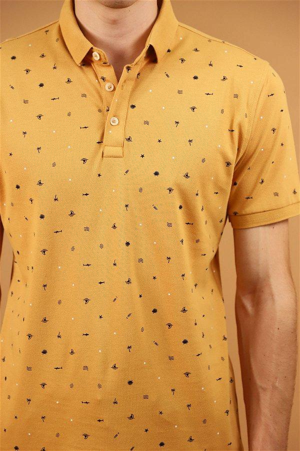 Polo Yaka Erkek T-shirt BAL KÖPÜGÜ