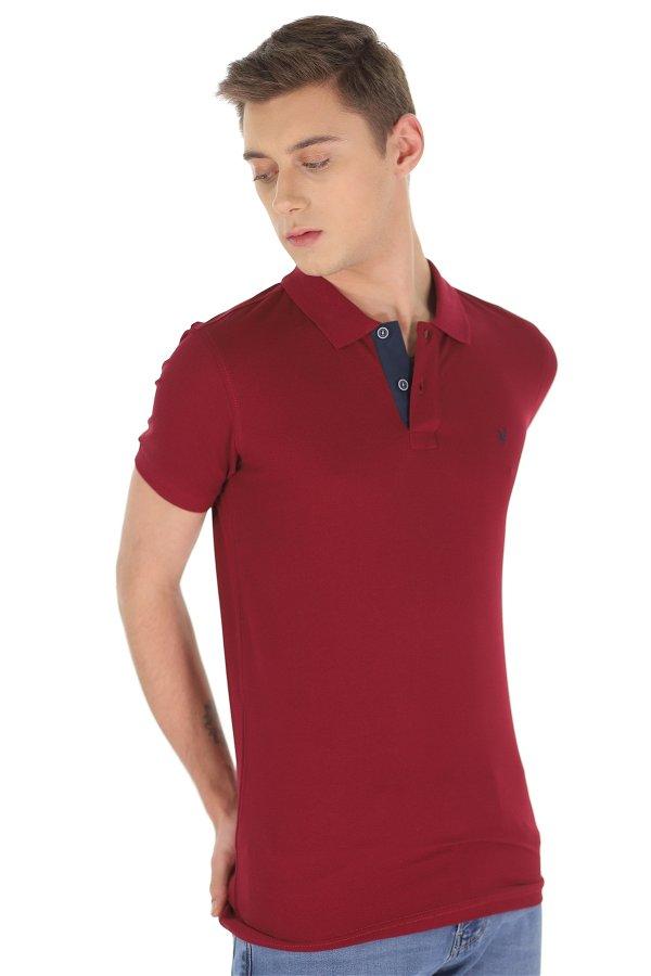 Polo Yaka Erkek T-shirt BORDO