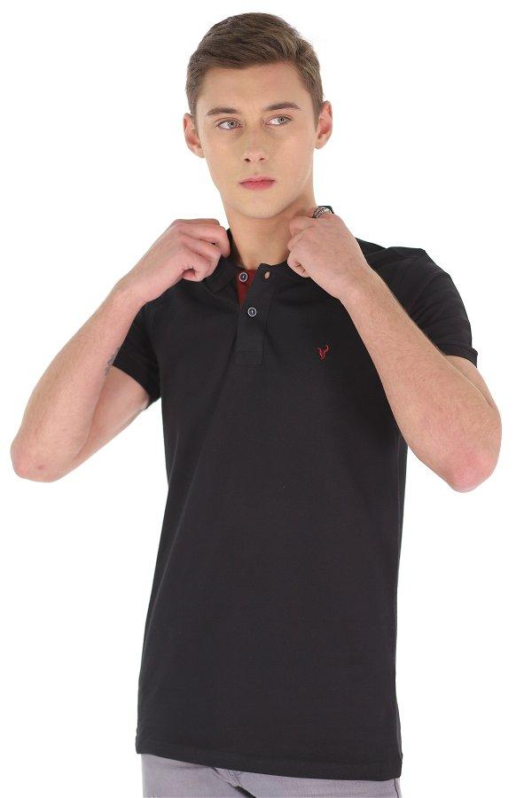 Polo Yaka Erkek T-shirt SIYAH