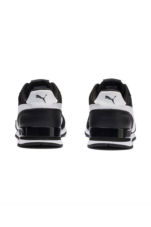 Puma Runner Erkek Spor Ayakkabı SIYAH-BEYA