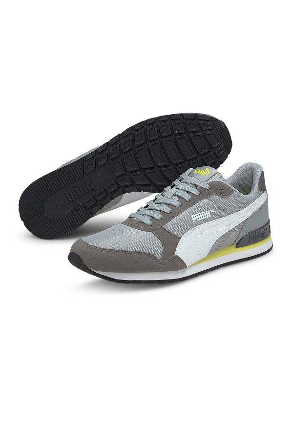 Puma St Runner V2 Mesh Quarry Erkek Spor Ayakkabı BEYAZ