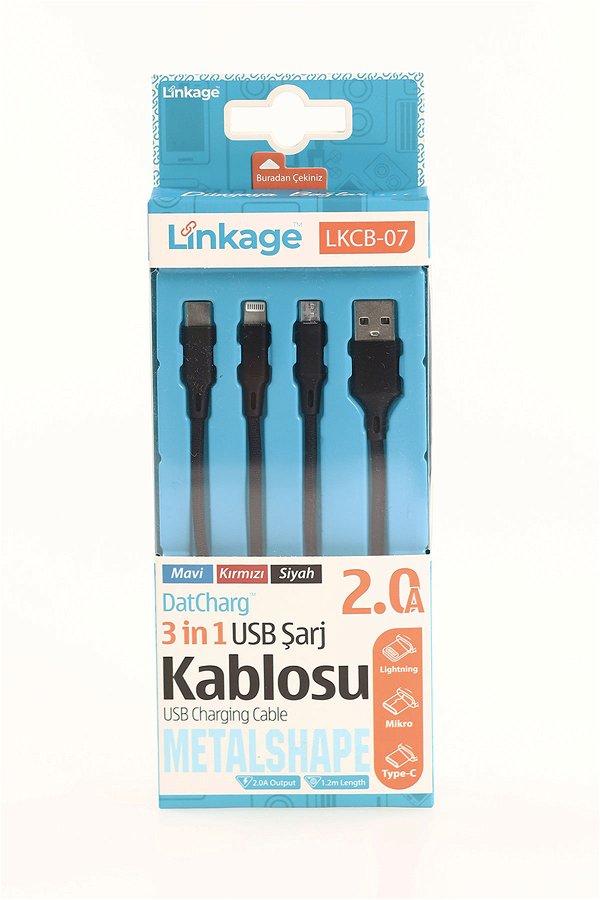 3lü Şarj Kablosu STD
