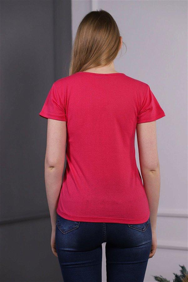 Sorry Baskılı T-shirt PEMBE