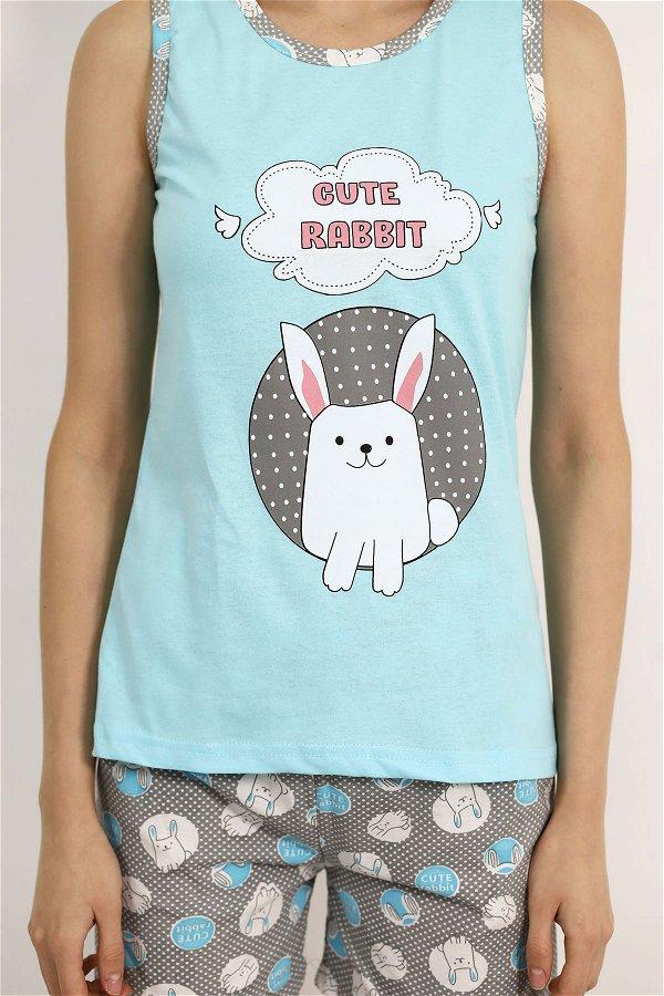 Şortlu Pijama Takımı MAVI
