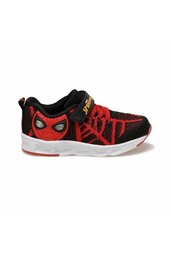Spiderman Slowa Siyah Işıklı Çocuk Spor Ayakkabı SIYAH