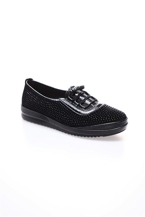 Taşlı Kadın Ayakkabı SIYAH
