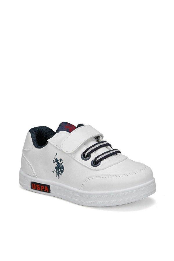 U.S Polo Cameron Beyaz Çocuk Spor Ayakkabı