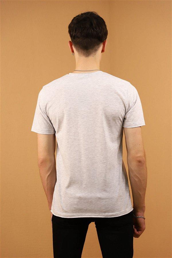 V Yaka T-Shirt A.GRİ