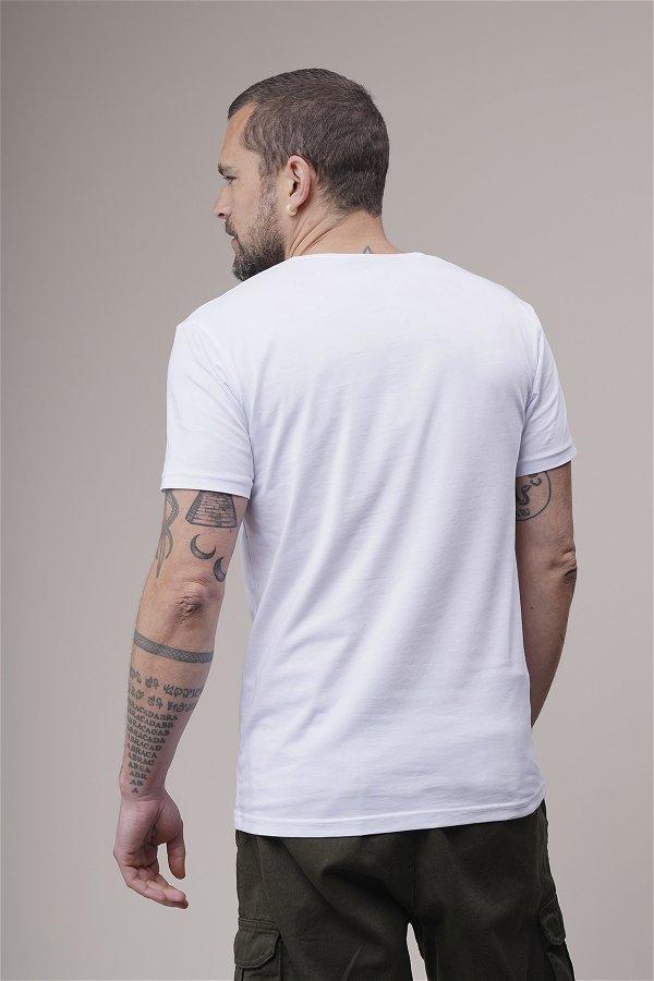 V Yaka Tshirt Beyaz