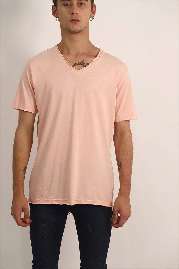 V Yaka T-Shirt PUDRA