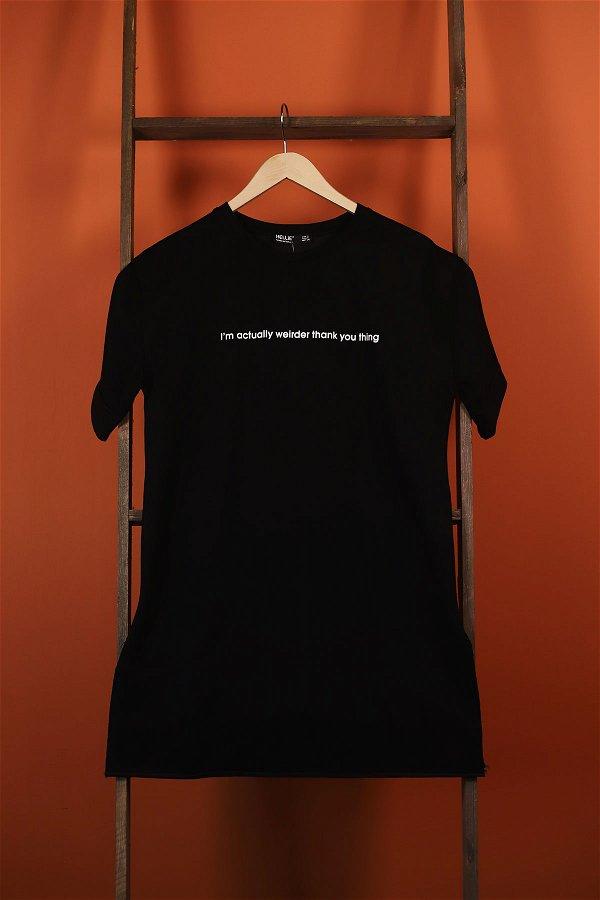 Ön Baskılı T-shirt SIYAH