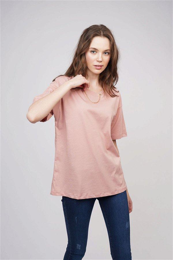 Yaka Zincirli T-shirt PUDRA