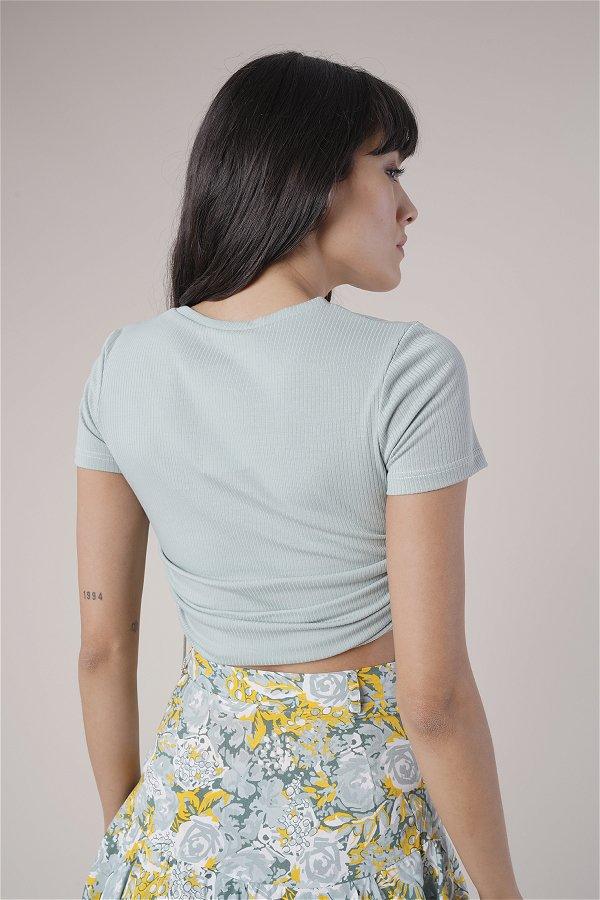 Yan Büzgülü T-shirt MINT
