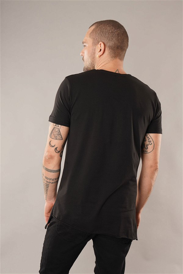Yan Fermuarlı T-shirt SIYAH