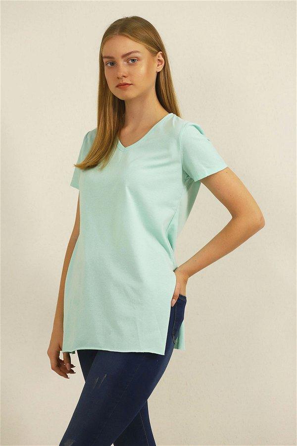Yan Yırtmaçlı T-shirt