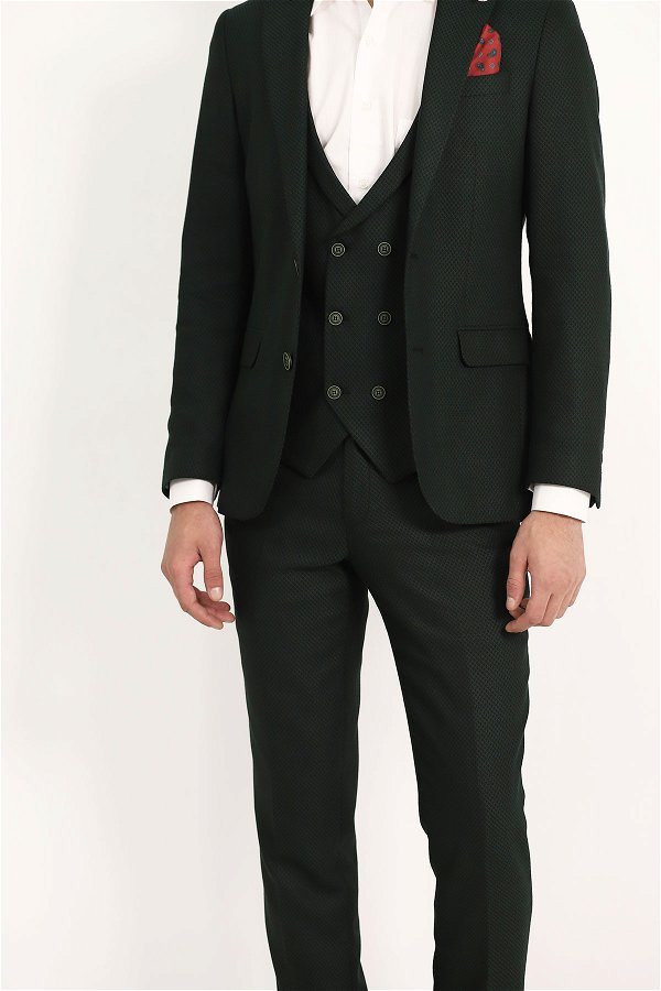 Yelekli Takım Elbise YESIL