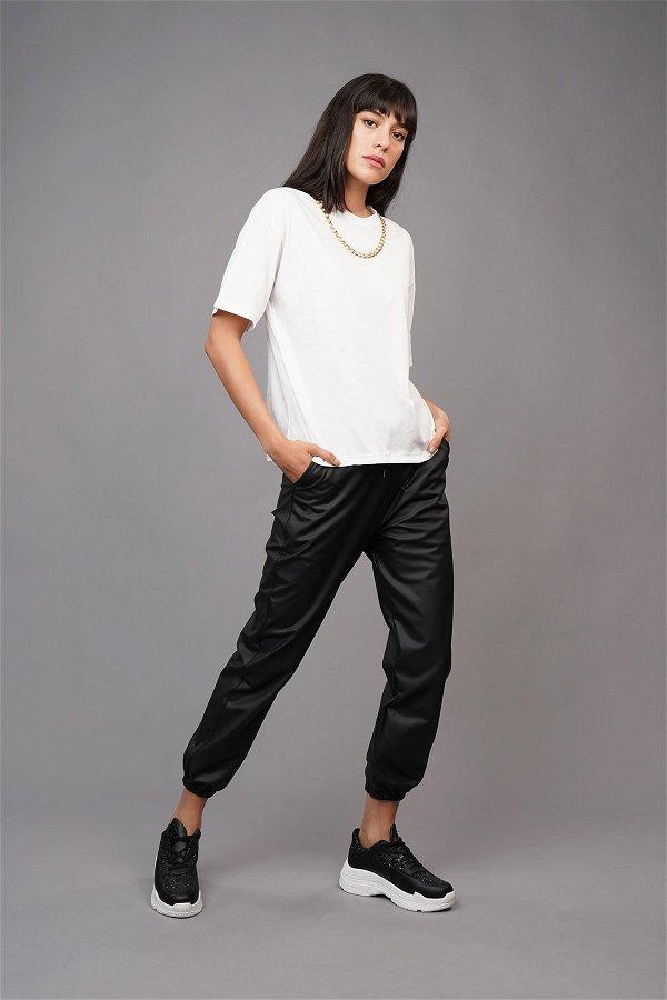 Zincir Detaylı T-shirt Beyaz
