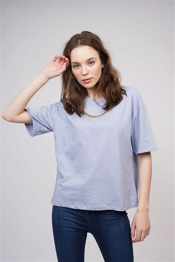 Zincir Detaylı T-shirt MAVI